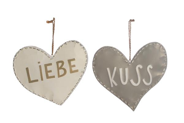 Anhänger Herz Liebe / Kuss 2er Set Bild
