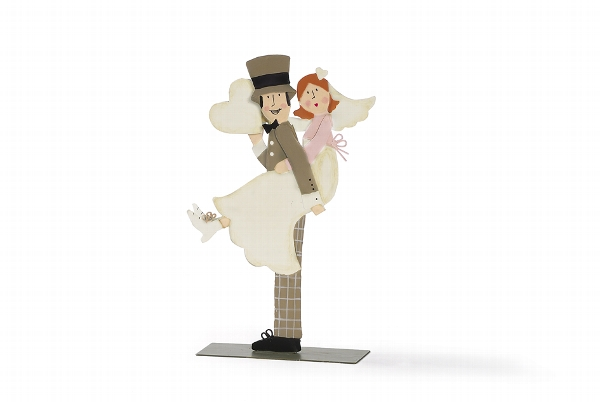 Aufsteller Brautpaar mit Foto-Clip Bild