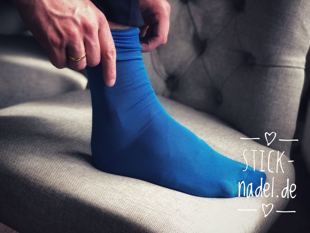Herren Anzugsocken (Hellblau) Bild