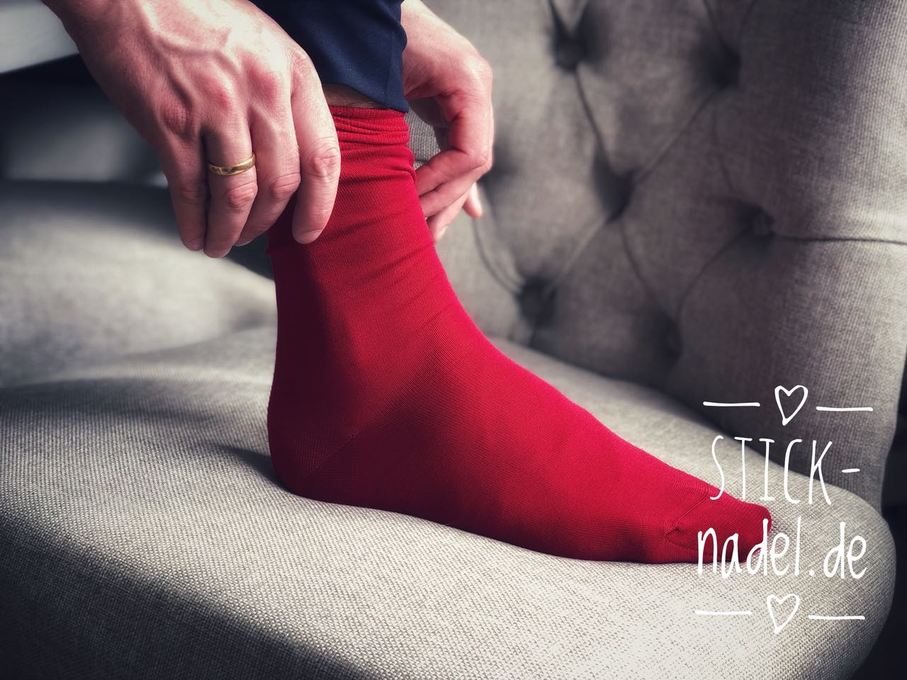 Herren Anzugsocken (Rot) Bild