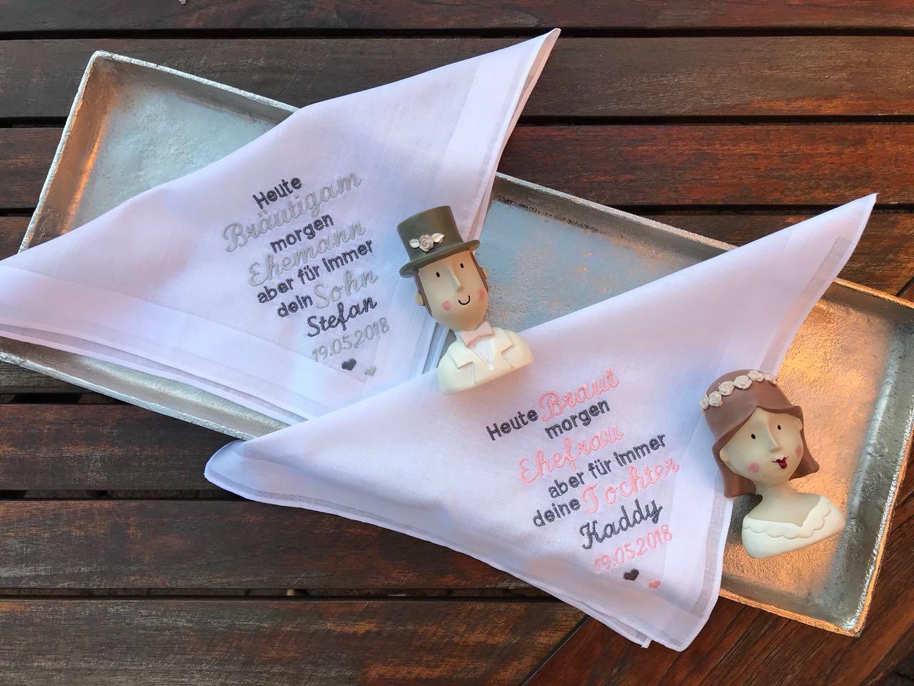 Taschentuch mit Atlaskante